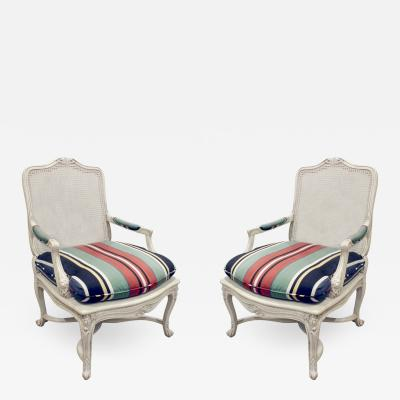 Chic Pair of Lacquered Fauteuils 1960s
