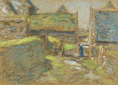 Childe Hassam Brittany Barns Perros Guirec