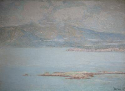 Childe Hassam Looking over Frenchman s Bay at Green Mountain 1896