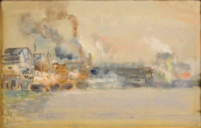 Childe Hassam Portland Harbor
