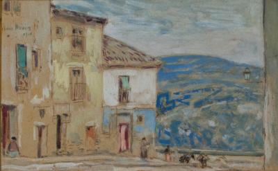 Childe Hassam Street Scene Toledo Spain 1910