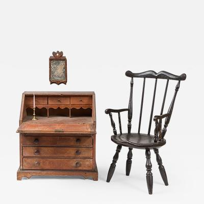 Childs Desk and Windsor Armchair