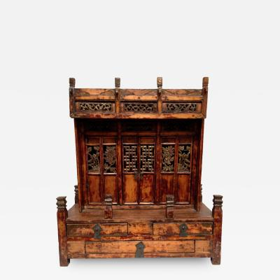 Chinese Antique Temple Altar 19th Century