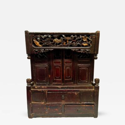 Chinese Antique Temple with Gilt Pheasant