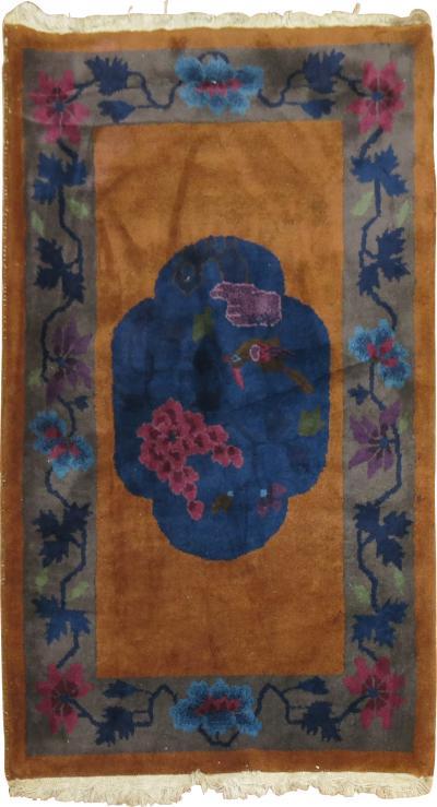 Chinese Art Deco Mat rug no j1501