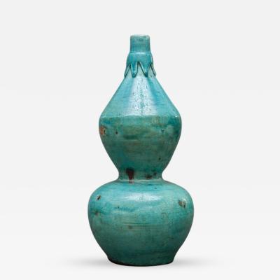 Chinese Blue Glaze Gourd Shape Vase