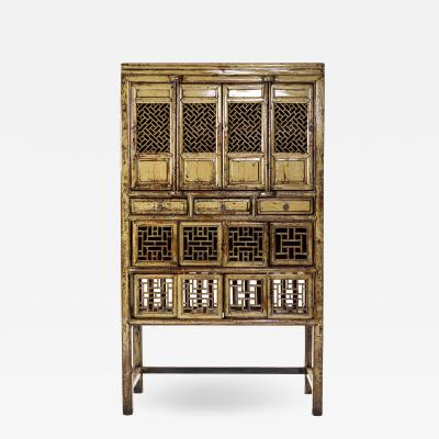 Chinese Cabinet with Three Drawers and Four Doors