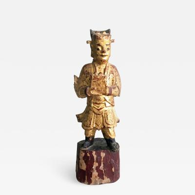 Chinese Carved Wooden Figure