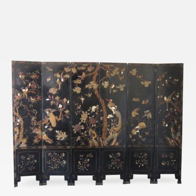 Chinese Coromandel or Kuancai Screen