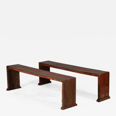 Chinese Elm Wood Benches