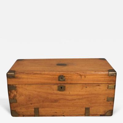 Chinese Export Camphorwod Sea Chest or Campaign Trunk