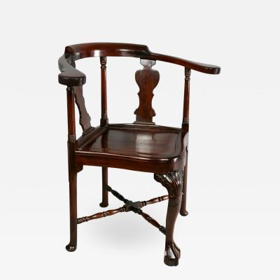 Chinese Export Hardwood Corner Chair