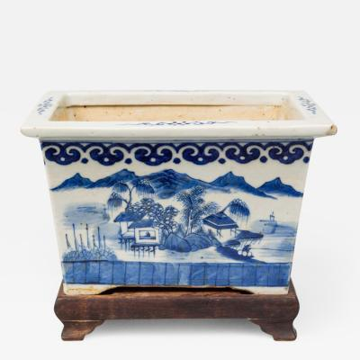 Chinese Export Jardiniere on Stand Circa 1800