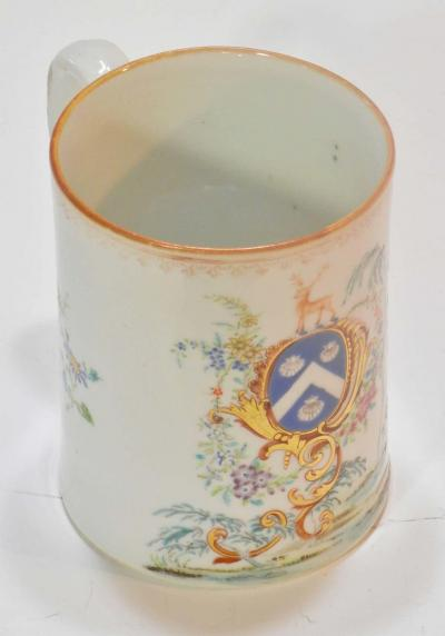 Chinese Export Rococo St James Armorial Tankard 18th Century