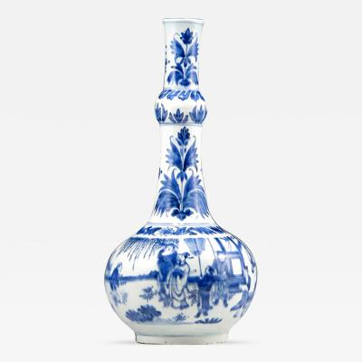 Chinese Export Transitional Period Garlic Necked Bottle Vase