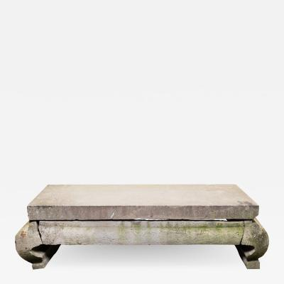 Chinese Grand Limestone Table c 1650