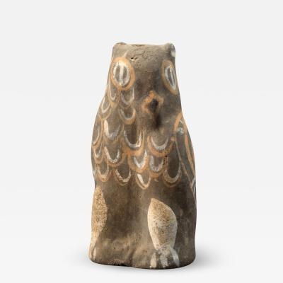 Chinese Han Pottery Owl