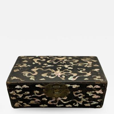 Chinese Ming Mother of Pearl Lacquer Box