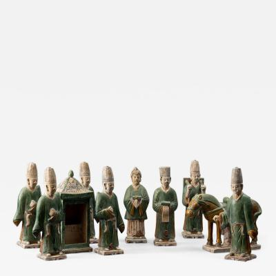 Chinese Pottery Figures with Horse