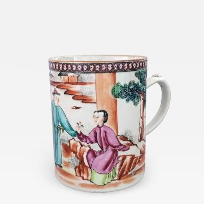 Chinese Qianlong 18th Century Famille Rose Mug