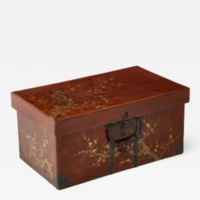 Chinese Red Lacquer Trunk