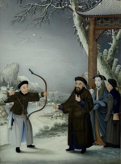Chinese Reverse Glass painting circa 1790