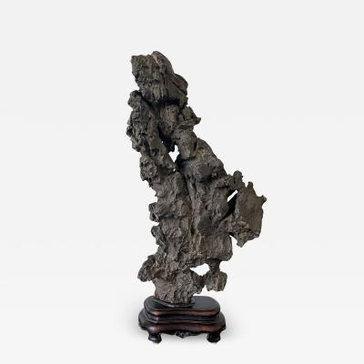 Chinese Scholar Rock Ying Stone on Display Stand