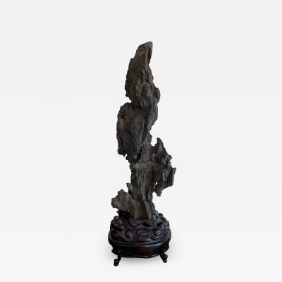 Chinese Scholar Rock Yingde Stone on Stand