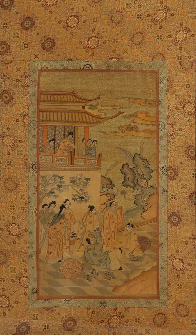 Chinese Silk Woven Panel