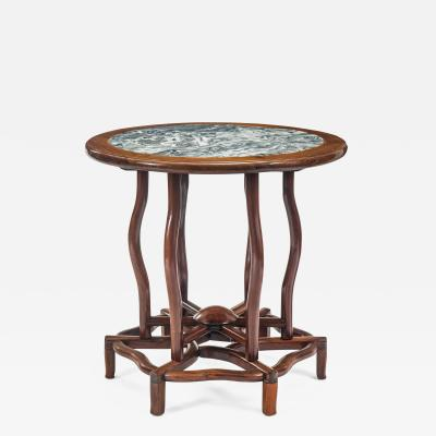 Chinese Table with Beautifully Figured Inset Marble Top