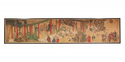 Chinese court painting on silk