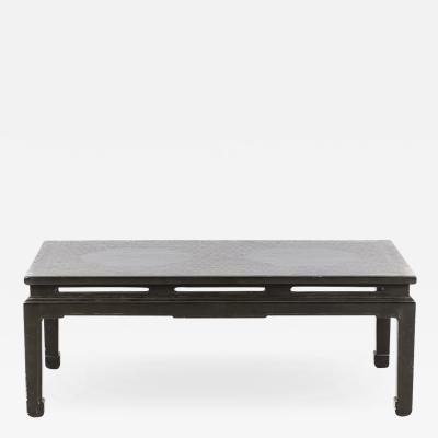 Chinese green lacquered coffee table circa 1950