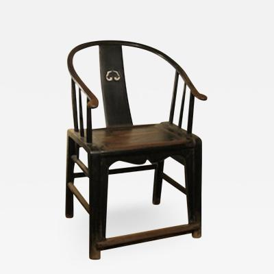 Chinese horseshoe arm farmer s chair