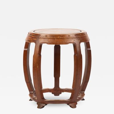 Chinese rosewood barrel shaped garden seat