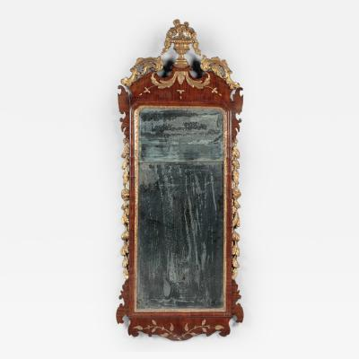 Chippendale Carved Parcel Gilt Looking Glass