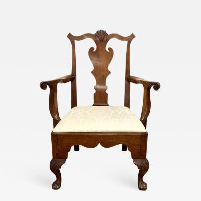 Chippendale Carved Walnut Armchair Philadelphia Pennsylvania circa 1770