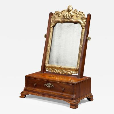 Chippendale Shaving Box with Gilded Mirror