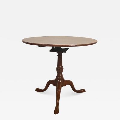 Chippendale Tripod Tea Table England Circa 1790