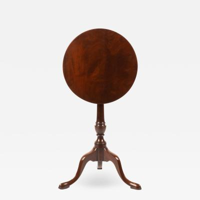 Chippendale mahogany circular tilt top candle stand