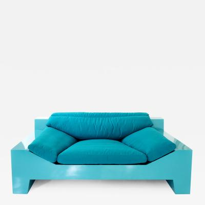 Chris Rucker Chris Rucker Indoor Outdoor Powder Coated Steel Lounge Sofa USA 2017
