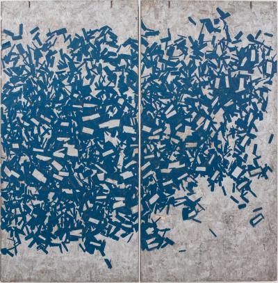 Chris Rucker Chris Rucker Safety Blue Diptych USA 2016