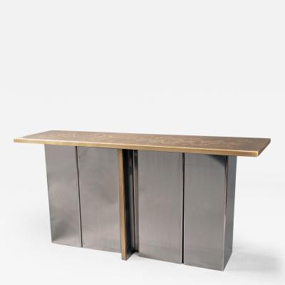 Christian Aime Heckscher Console Table by Christian Heckscher born 1951 Belgium 1970s