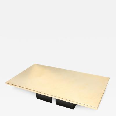 Christian Aime Heckscher Rare Christian Heckscher Brass Etched Coffee Table