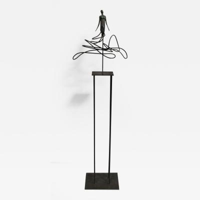Christian Cadelli I Have So Many Dreams Figural Iron Sculpture by Christian Cadelli