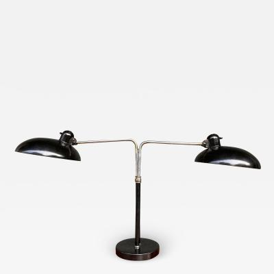 Christian Dell Double Table Lamp for Kaiser Idell Germany 1930s