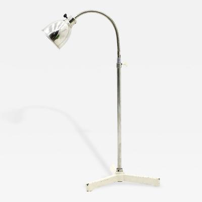 Christian Dell Floor Lamp with Gooseneck 1930s