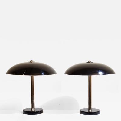 Christian Dell Pair of Table Lamps by Christian Dell for B nte Remmler circa 1931