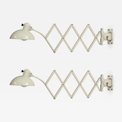 Christian Dell Scissor Wall Lamps by Christian Dell