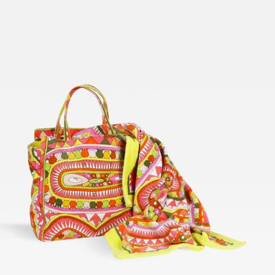 Christian Lacroix Pucci Bag and Towel Beach Set by Christian Lacroix