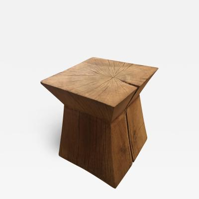 Christian Liaigre Nagato Stool in French Oak by Christian Liaigre for Holly Hunt